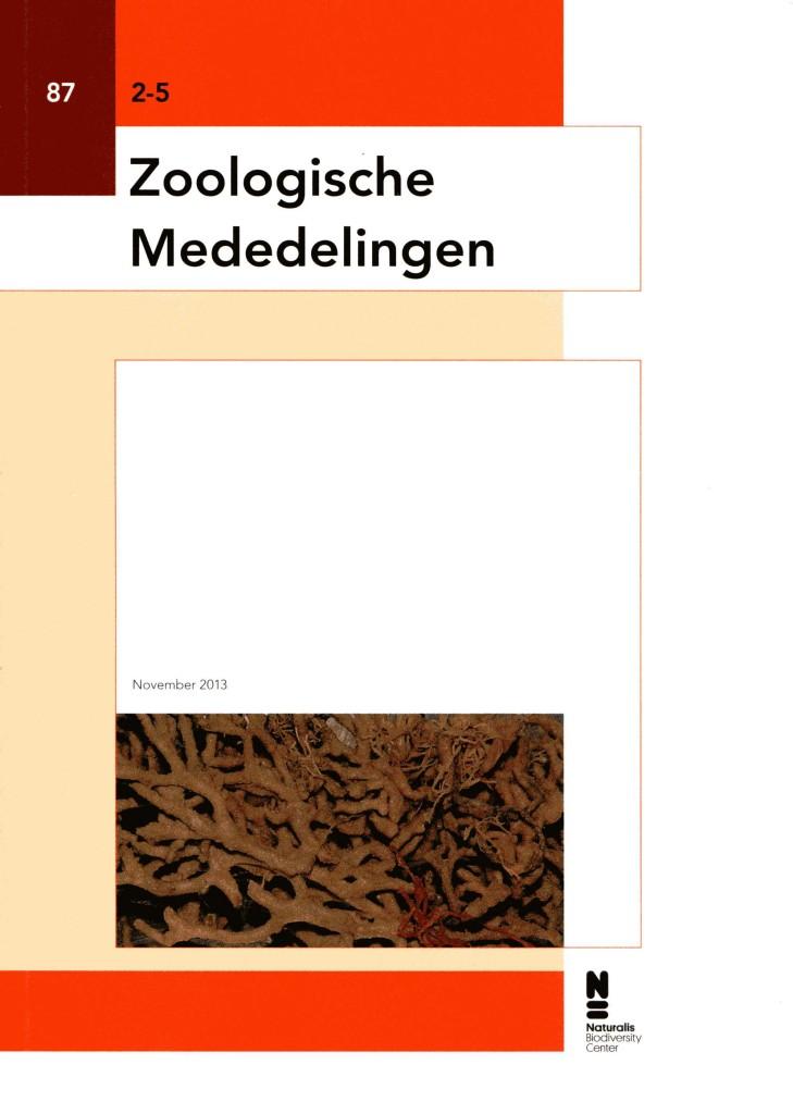 Zoologische Mededelingen  87  2.5  2013